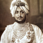 Maharaja Bhupinder Singh of Patiala in his pearl bib