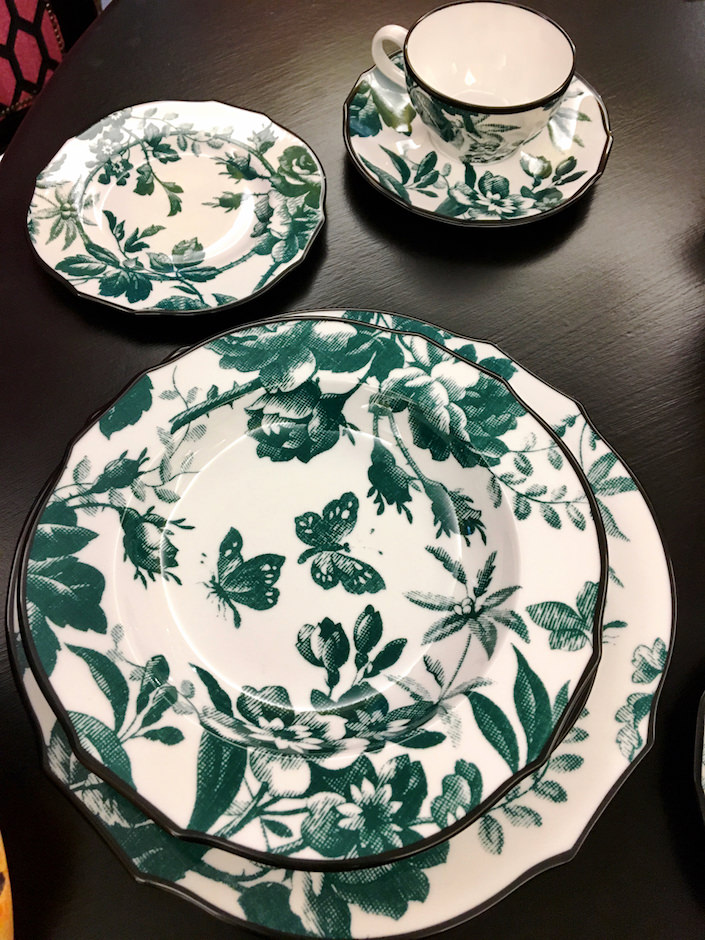 Gucci Herbarium china by Richard Ginori at Bergdorf's
