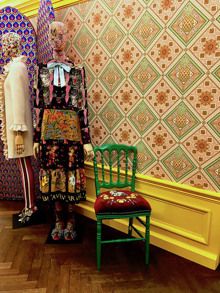 Gucci Pineapple wallpaper at Bergdorf's