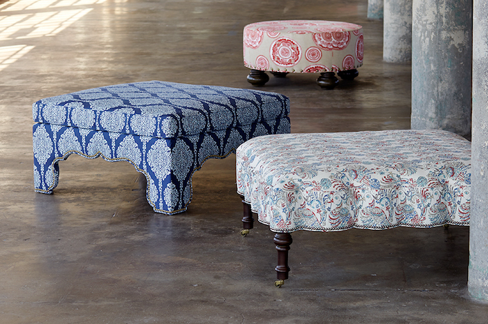 John Robshaw ottomans for Duralee