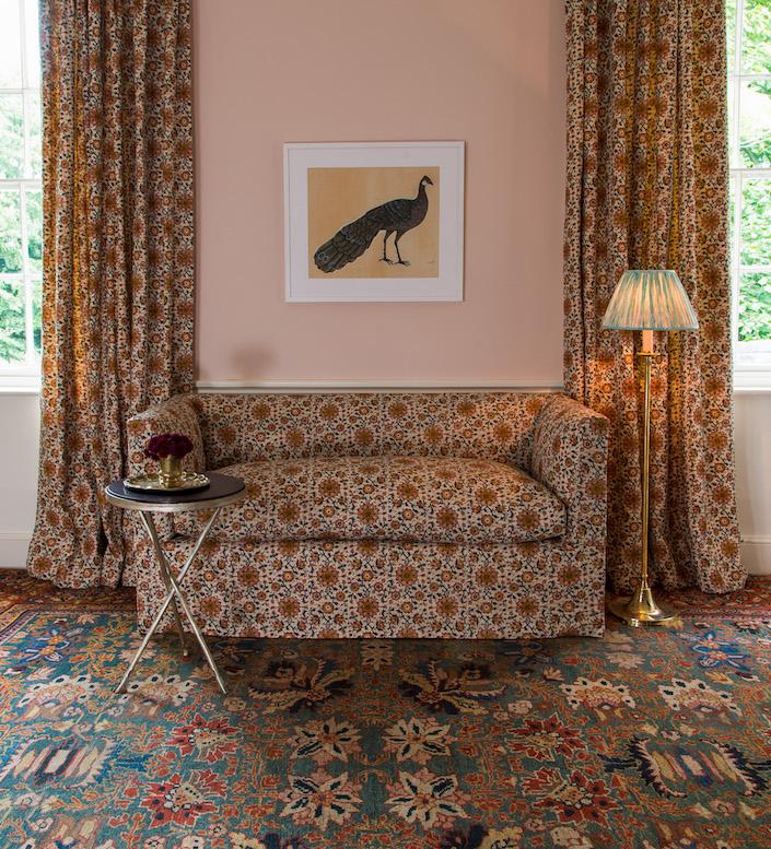 Soane Fall 2017 Persian-Flower-Beaton-Sofa-Tripod-Table