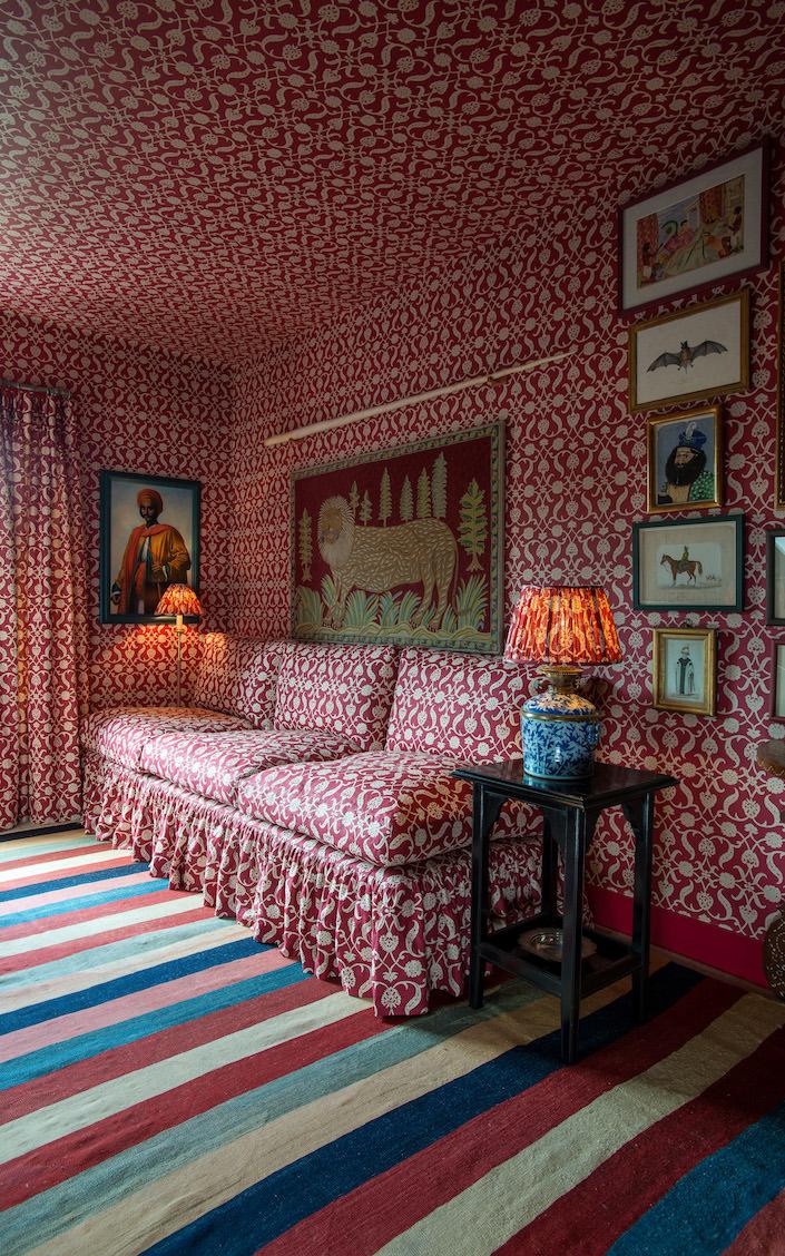 Soane Fall 2017 Tuileries-Sofa-Lotus-Palmette-Red