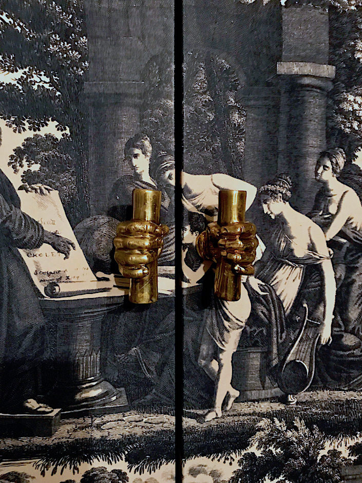 Soane hand door pulls via Quintessence