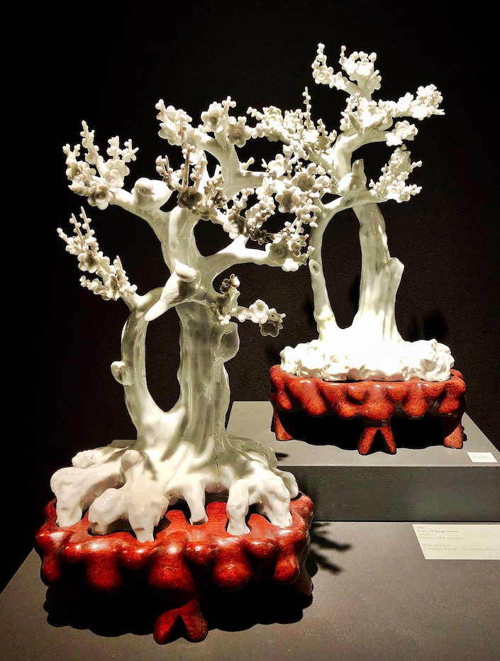 19th century chinese trees at Vanderven Oriental Art at TEFAF