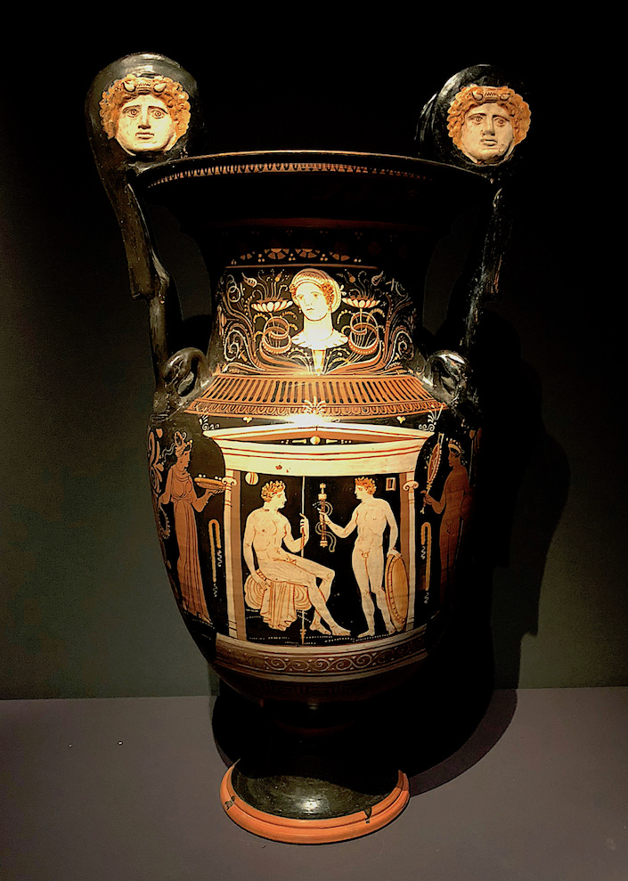 Apulian Krater c. 330-320 BC from Ruper Wace Ancient Art at TEFAF