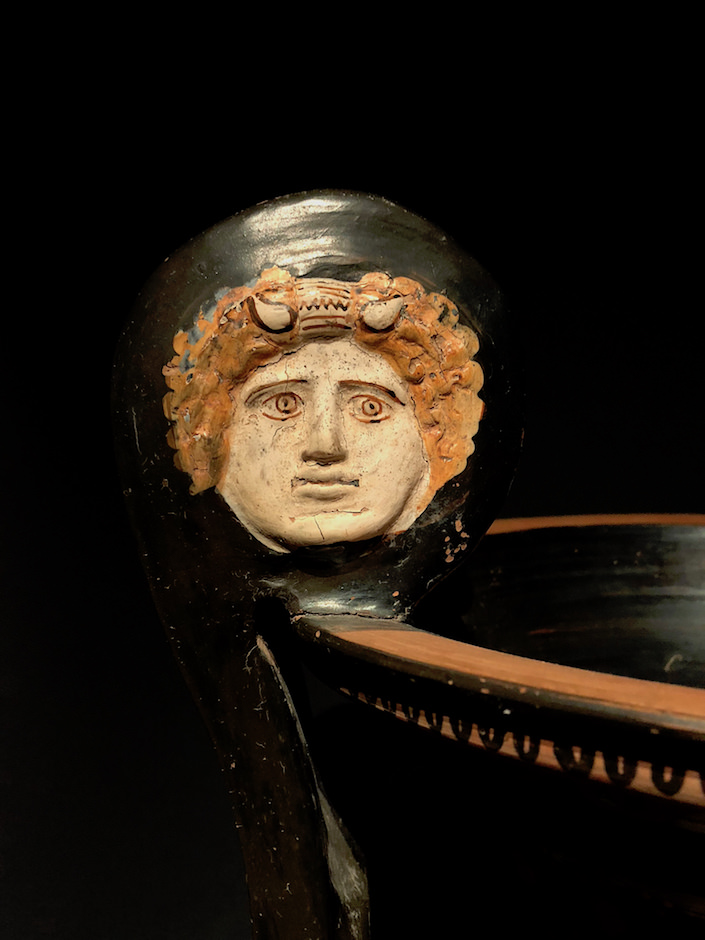 Apulian Krater c. 330-320 BC from Ruper Wace Ancient Art detail at TEFAF