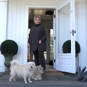 Bunny Williams and her shelter dogs