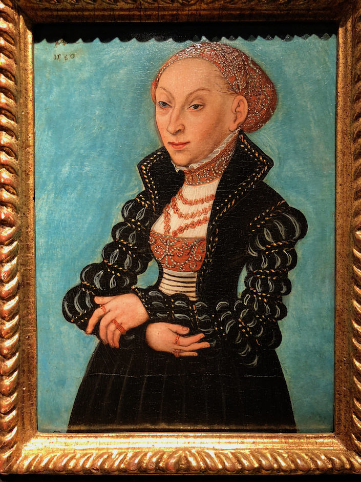 Lucas Cranach the Younger portrait at onckheere at TEFAF New York Fall
