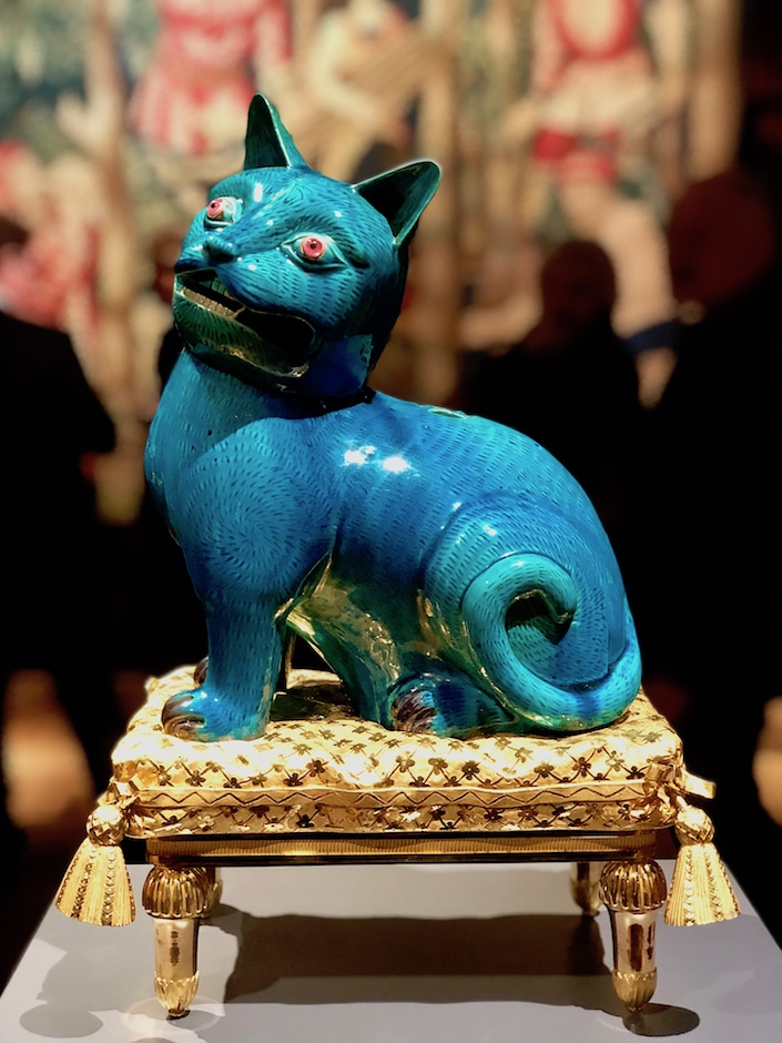 Madame de Pompadour's cat from Quenetain at TEFAF