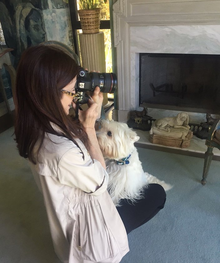 Stacey Bewkes shooting At Home with Dogs and Their Designers