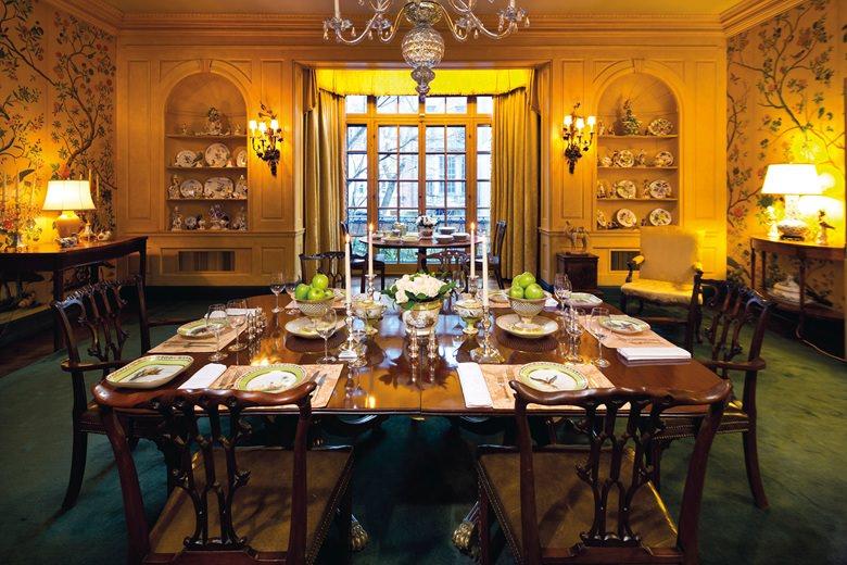 David Rockefeller NYC townhouse dining room-1