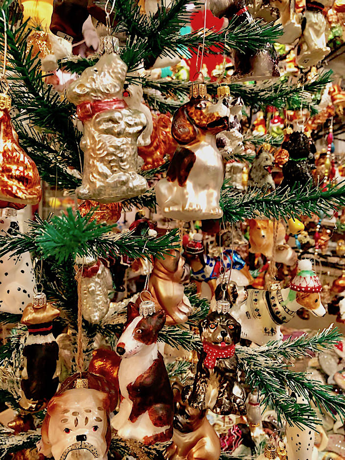 Dog ornament tree at John Derian