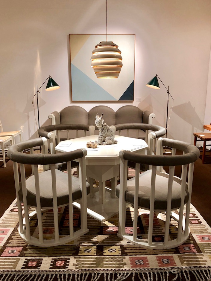 Eliel Saarinen dining set at Modernity at Salon Art + Design