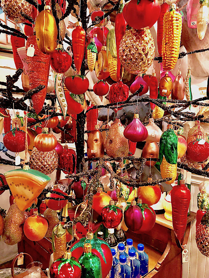 Fruit and vegetable ornament tree at John Derian