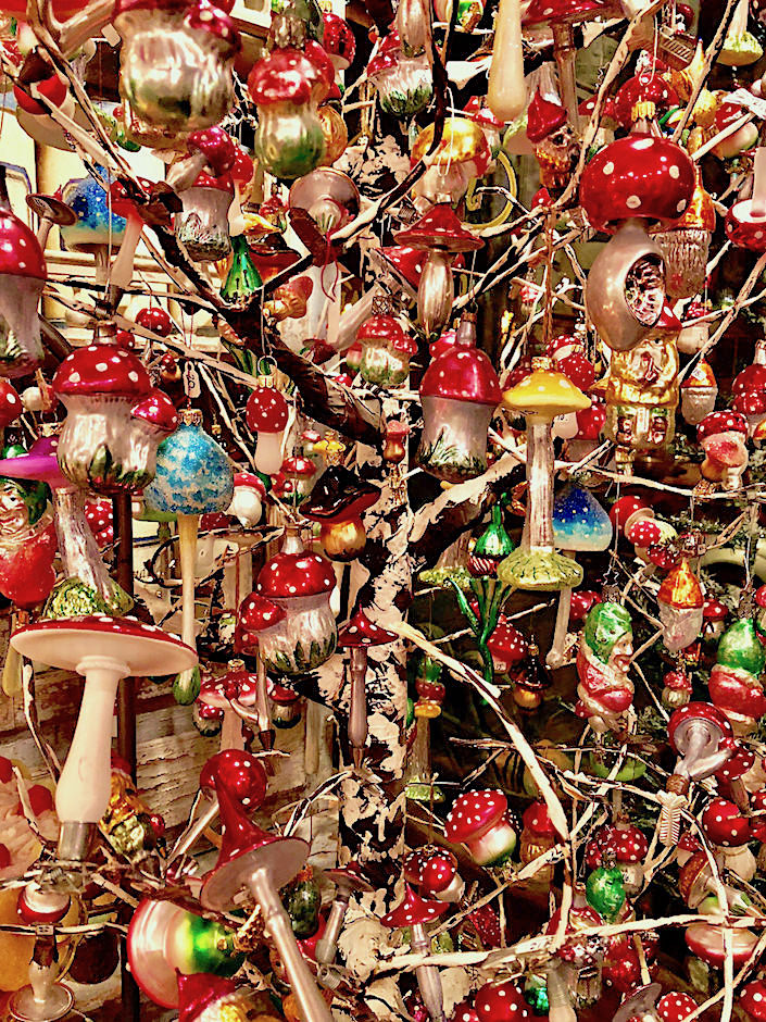 Mushroom ornament tree at John Derian