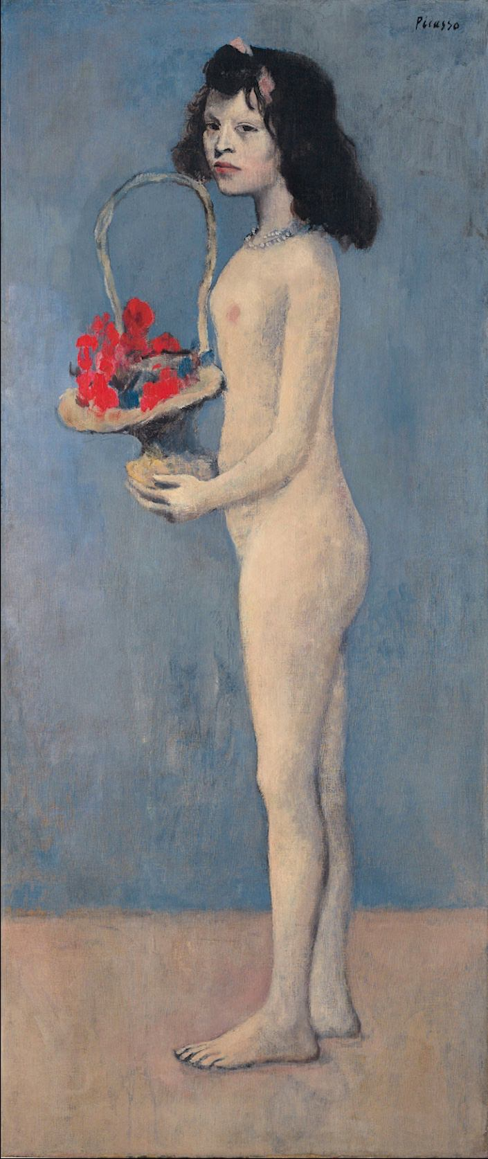 Picasso Young Girl with a Flower Basket-1