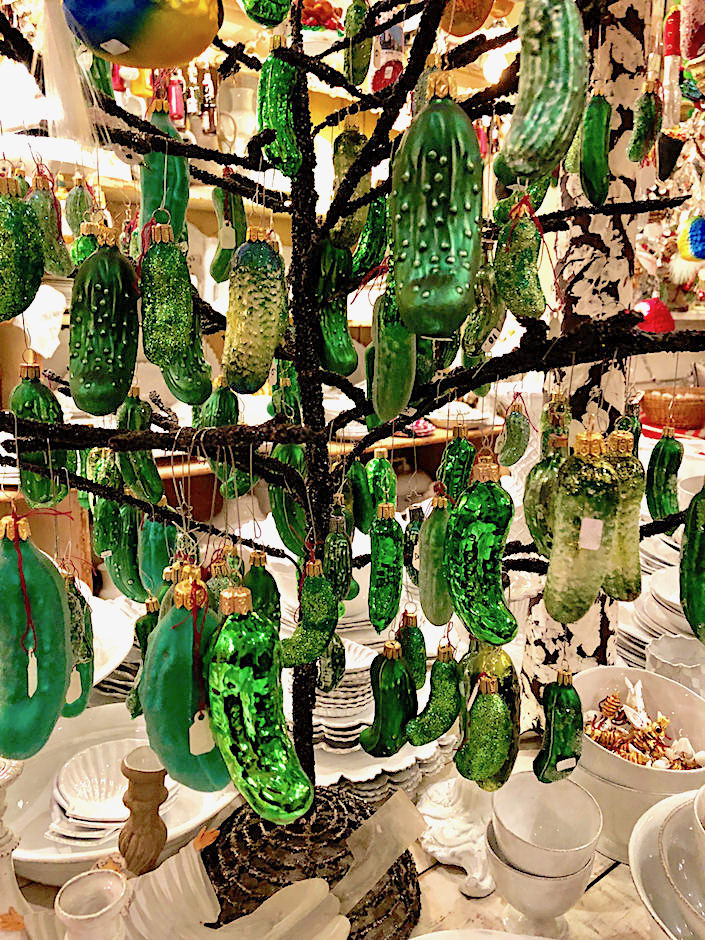 Pickle ornament tree at John Derian