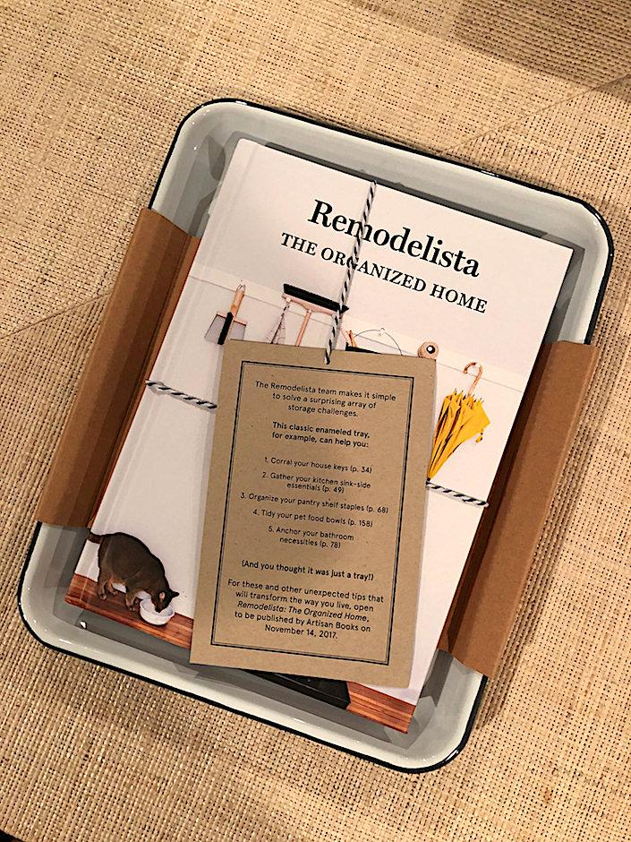 Remodelista book with Falcon Enamel tray