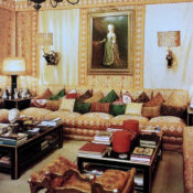 Renzo Mongiardino living room in Rome in Roomscapes copy