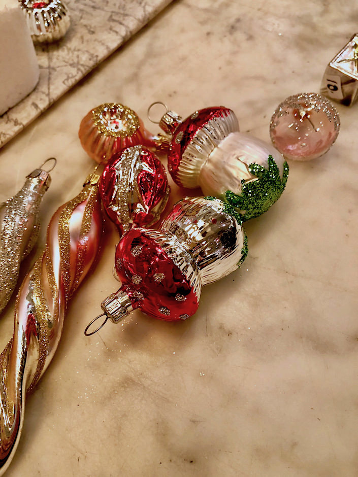 handblown and painted German glass Christmas ornaments at John Derian