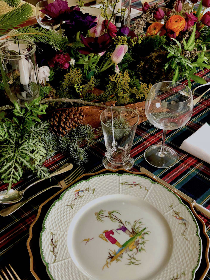 Christmas nature inspired table