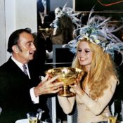 Dali and Bardot drinking champagne via Quintessence