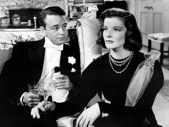 Lew Ayres and Katharine Hepburn in Holiday