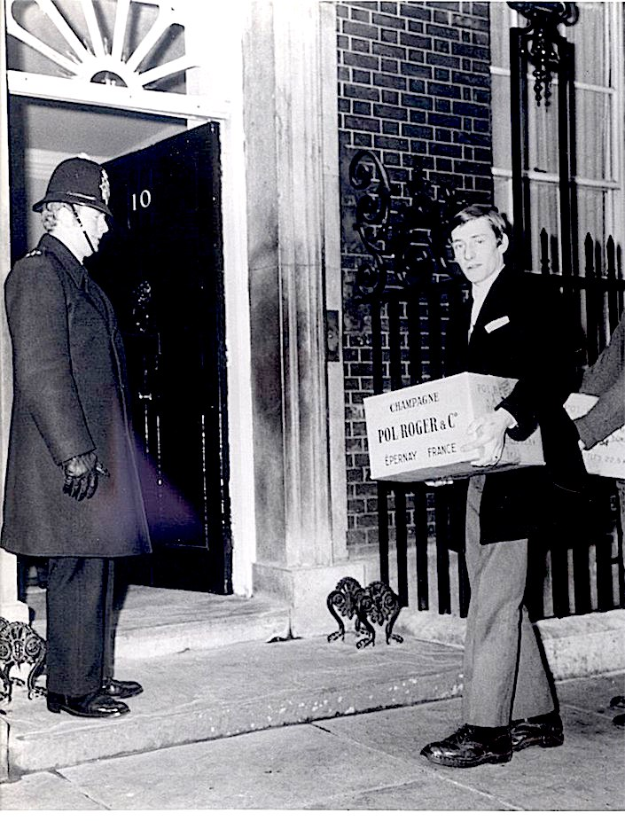 Pol Rogert being delivered to 10 Downing Street