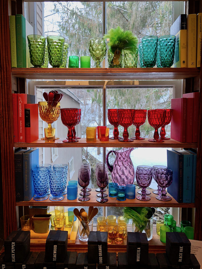 Vintage glass at Privet House