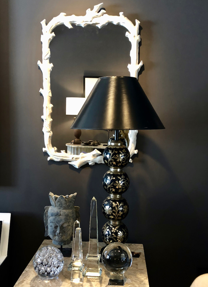 faux bois mirror at George Home