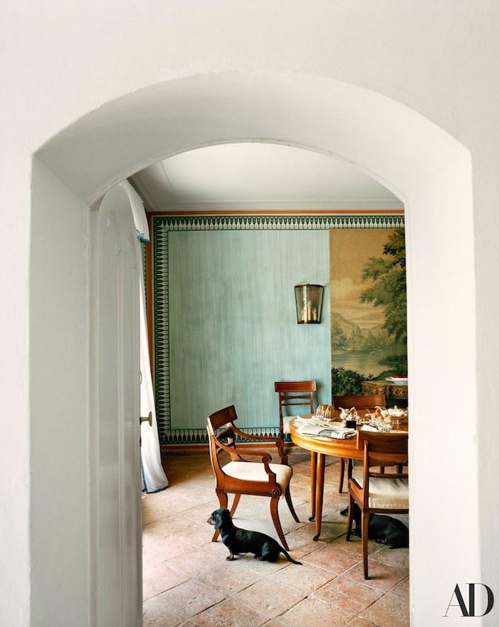 Jacaranda Caracciolo di Melito Falck house, photo Francois Halard for AD