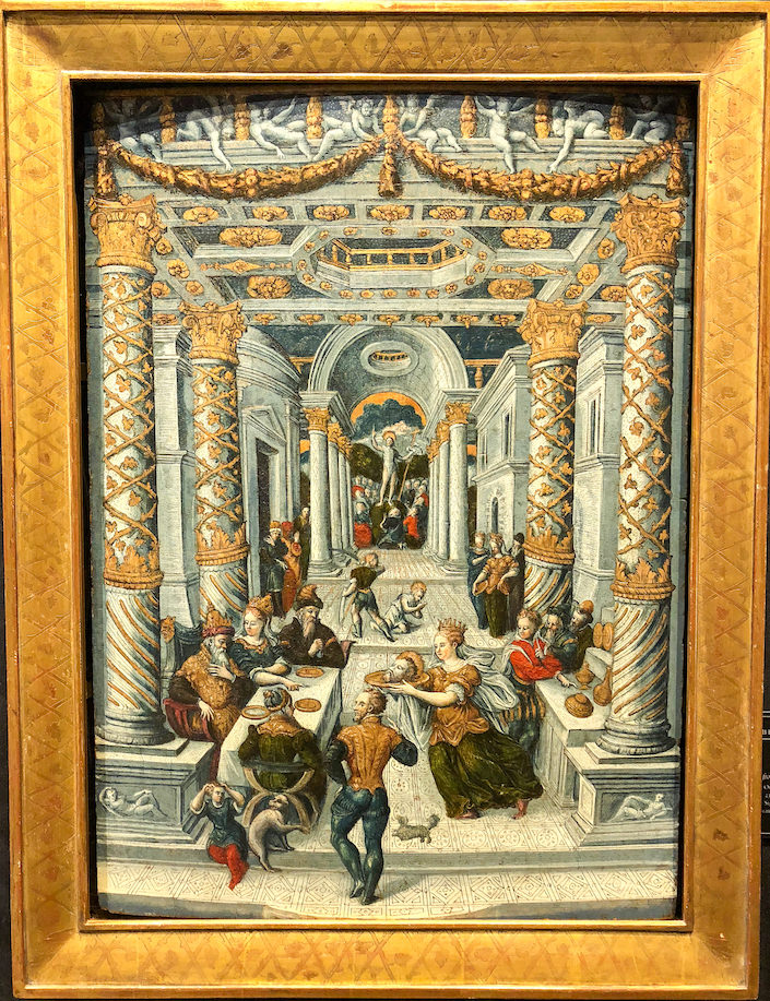 16th century oil at Robert Simon Fine Art at the 2018 Winter Antiques Show