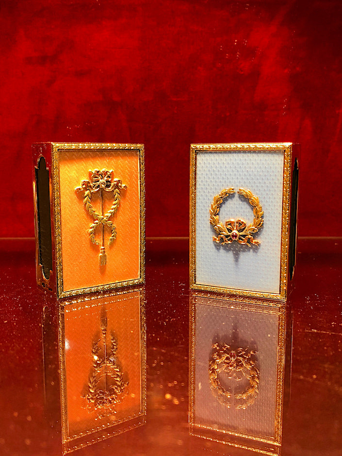 A La Vieille Russie Faberge match box covers at 2018 Winter Antiques Show