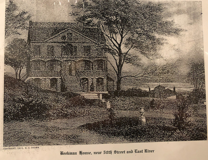 Beekman NYC residence in 1820