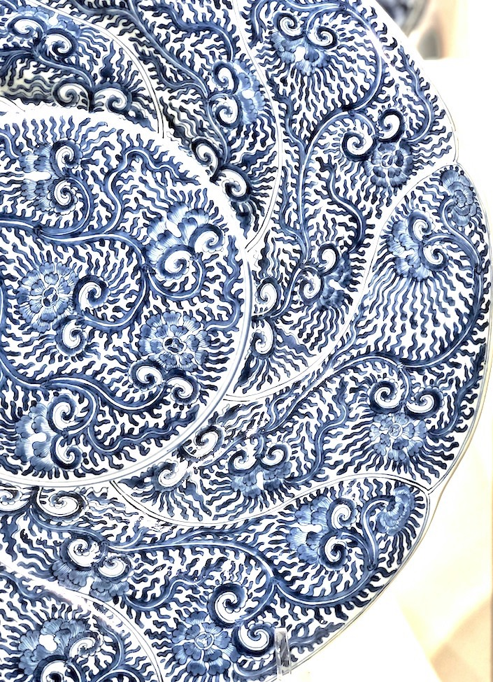 Chinese Export peony patterned dishes at Christies