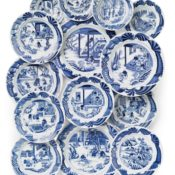Chinese Export tea cultivation dishes at Christies