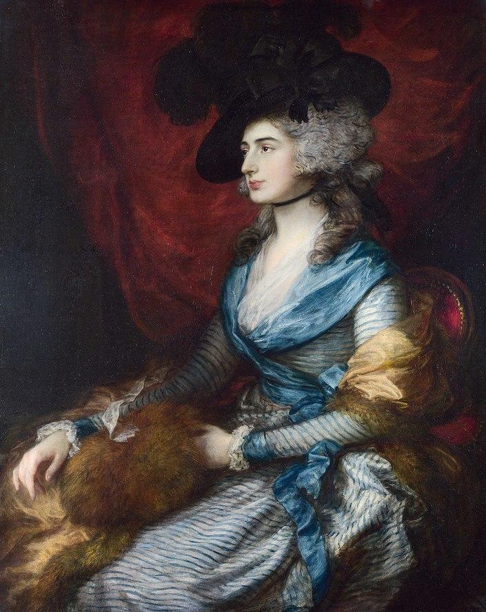 Gainsborough Mrs Siddons wish Prussian blue