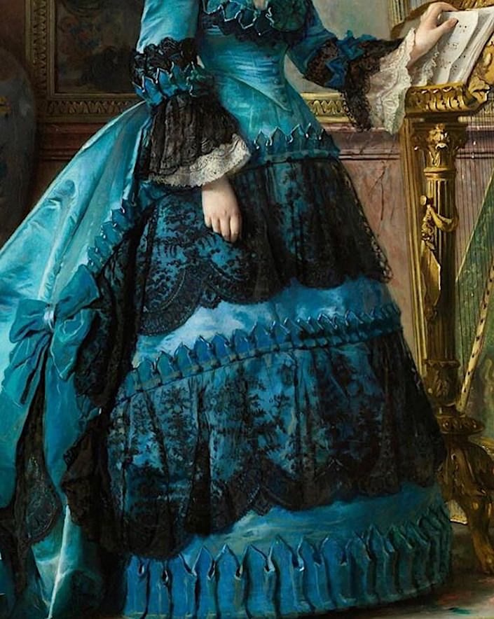 Maria de los Dolores Collado and Echague by Vicente Palmaroli 1870-1