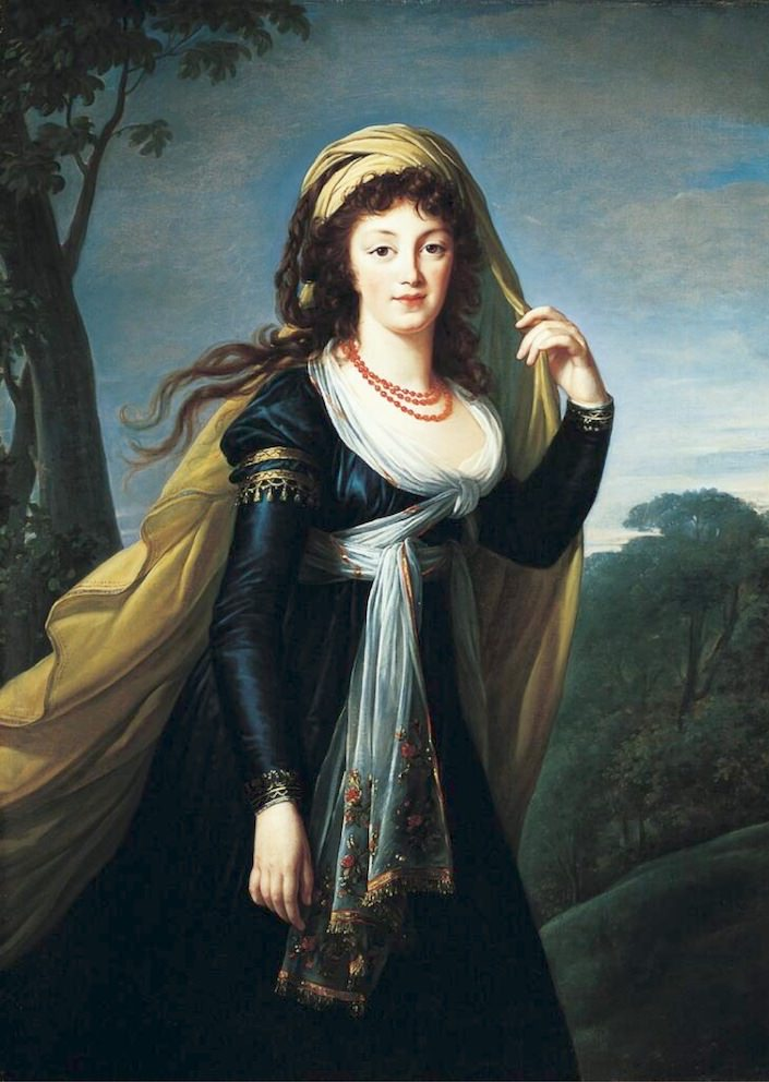 Portrait of Theresa, Countess Kinsky, 1793, Marie-Louise-Elisabeth Vigée-Lebrun-1