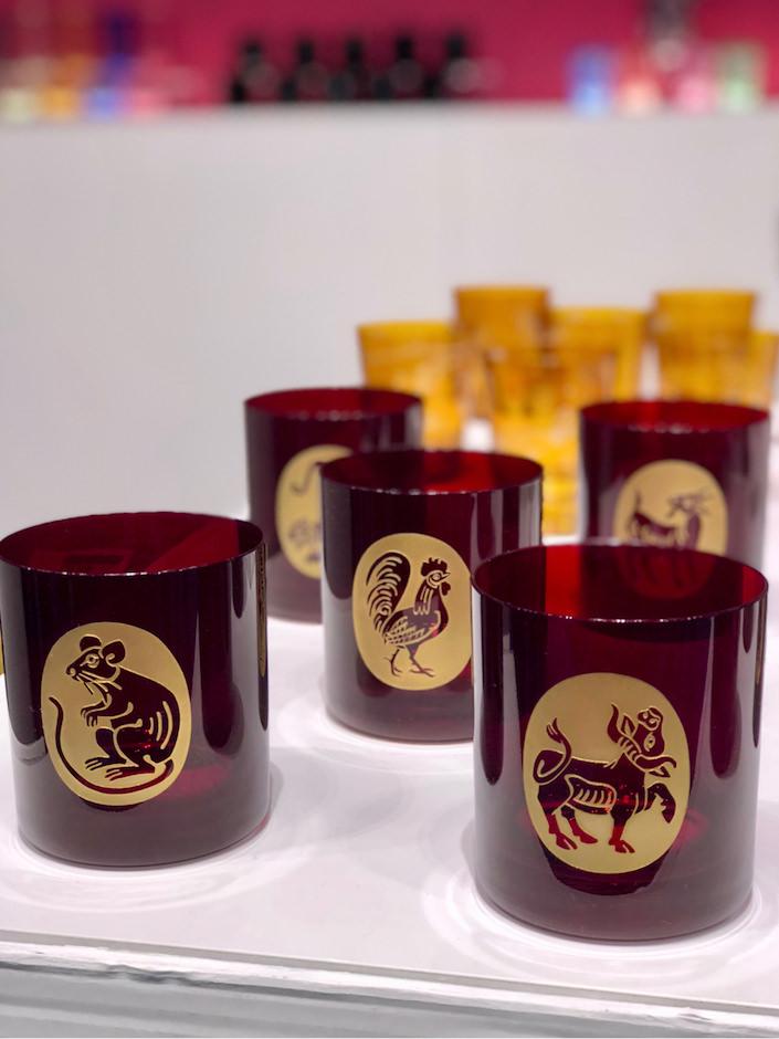 Artel Chinese Zodiac glassware