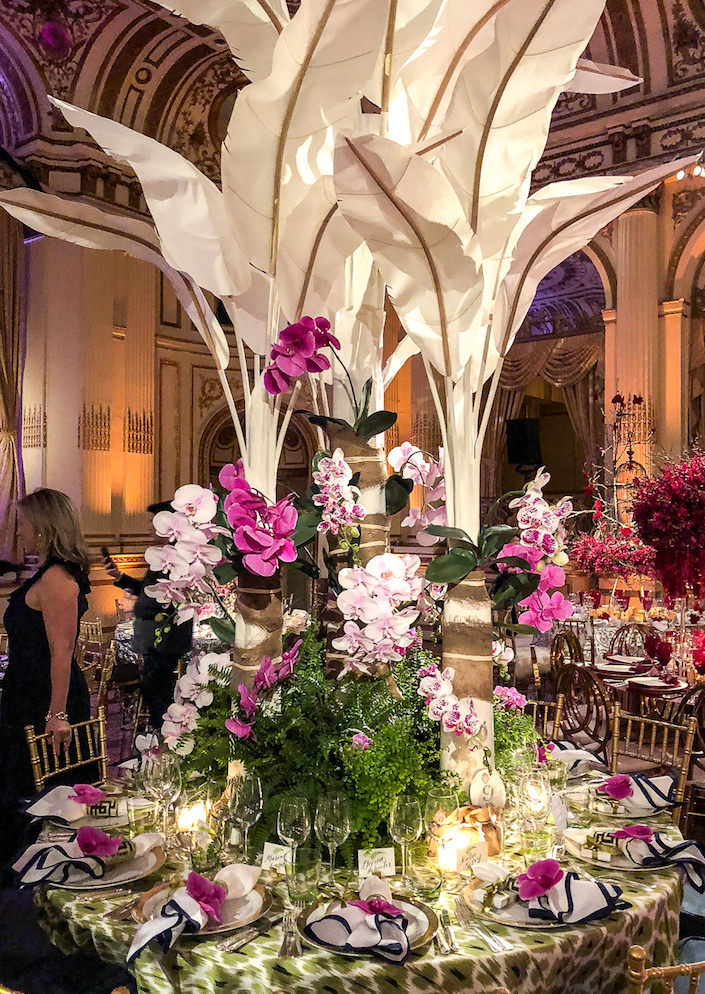 Ashley Whittaker Orchid Dinner 2018 table