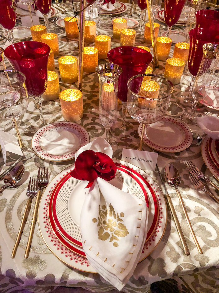Barbara Westbrook 2018 NYBG Orchid Dinner table