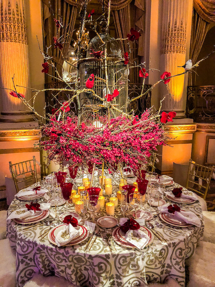 Barbara Westbrook Orchid Dinner table