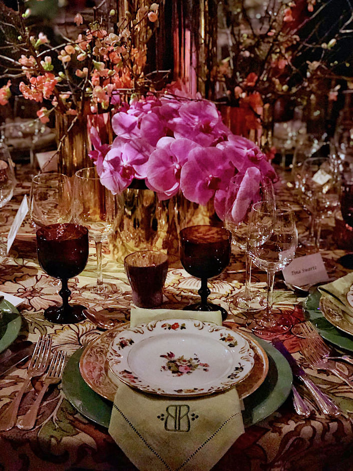 Barrie Benson Orchid Dinner table-1