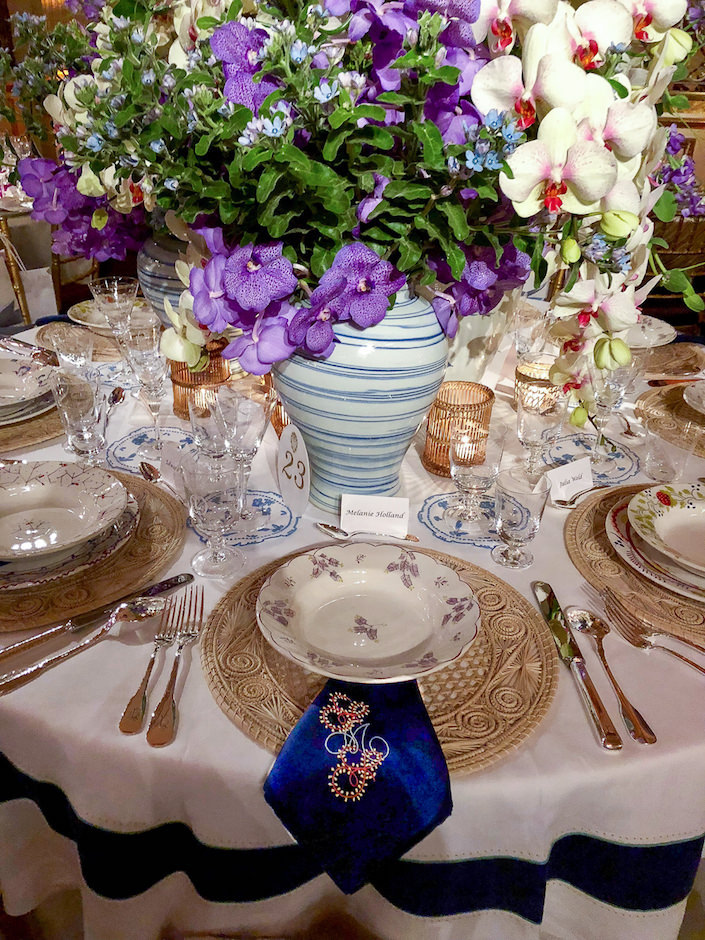 Beth Webb Orchid Dinner table
