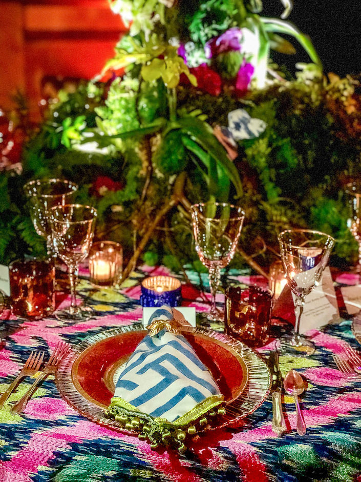Brittany Bromley 2018 NYBG Orchid Dinner table