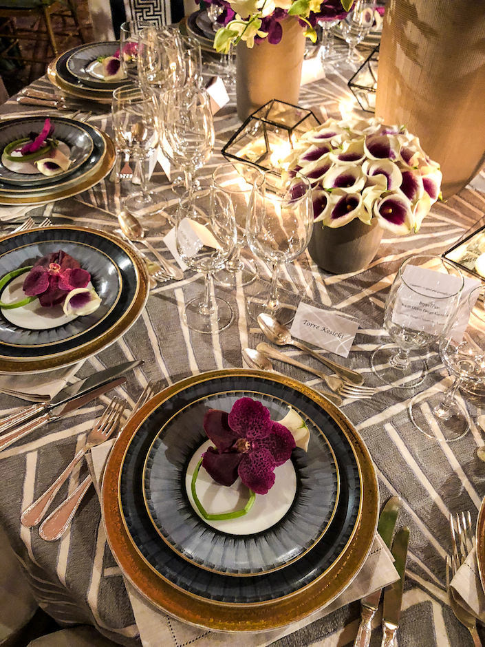 Brynn Olson Marie Daage Orchid Dinner table