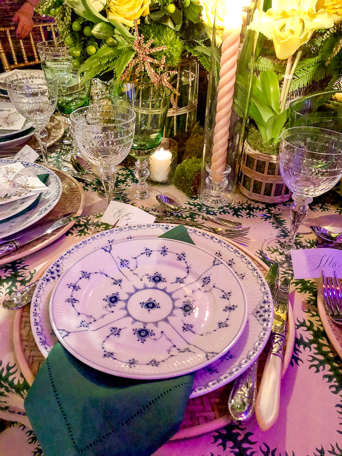 Cece Barfield Orchid Dinner 2018 placesetting