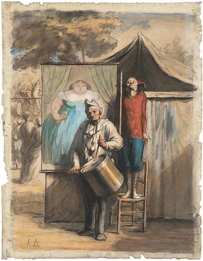 Daumier, Parade de Saltimbanques, ca. 1865-66, Private Collection New York.jpg