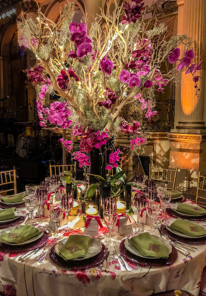 Elizabeth Pash 2018 NYBG Orchid Dinner